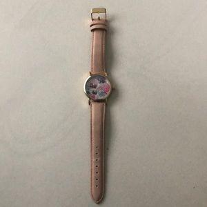 Floral print wrist watch